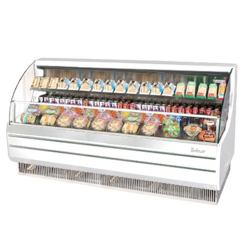 "Turbo Air TOM-75L White 75"" Low Profile Horizontal Air Curtain Display Case - 17.7 Cu. Ft."