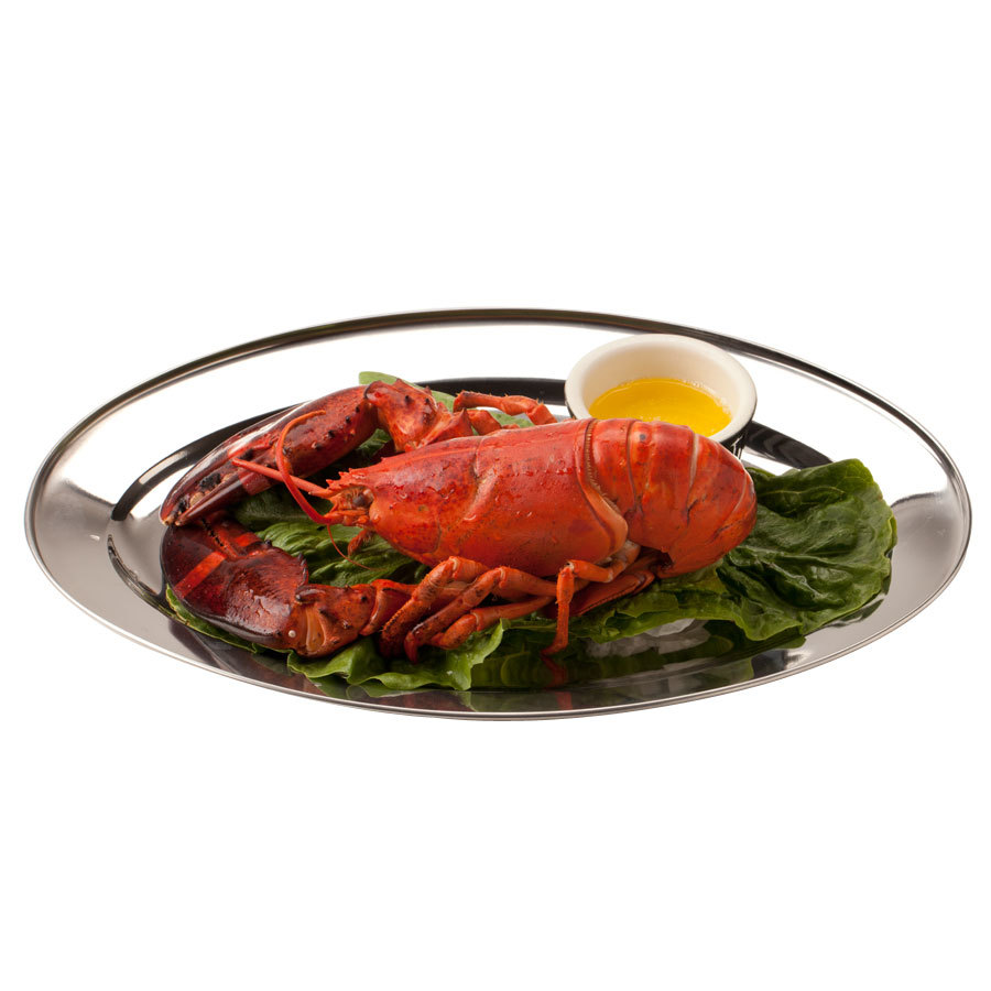 26 inch Oval Stainless Steel Platter