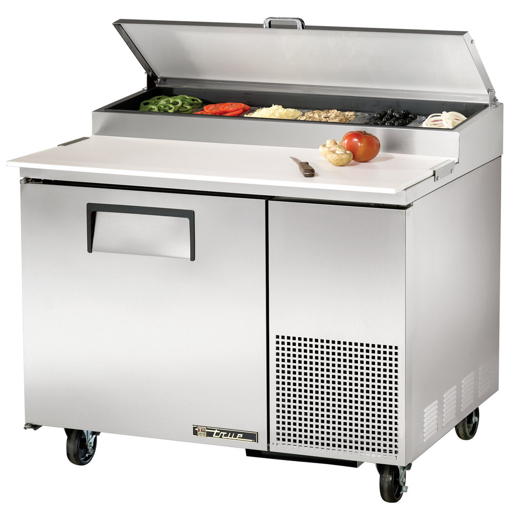 "True TPP-44 44"" One Door Refrigerated Pizza Prep Table"