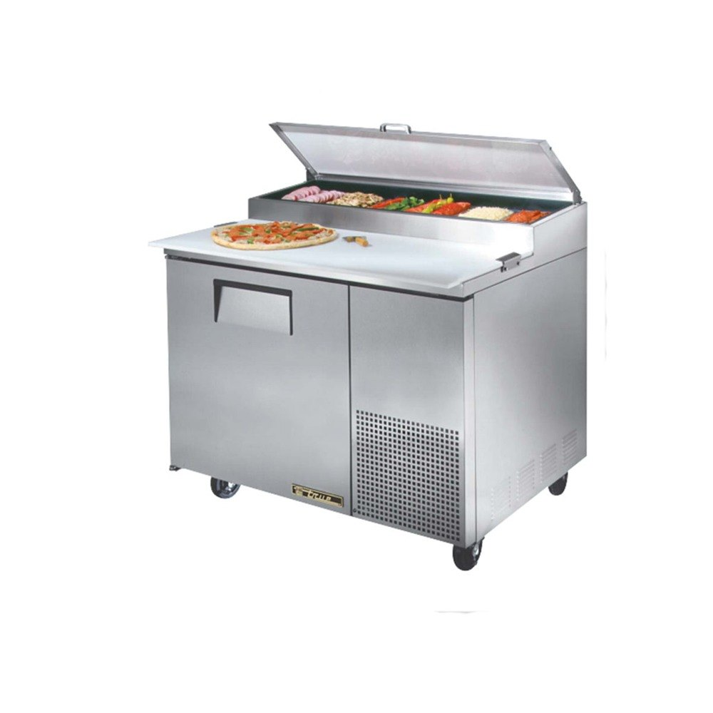 True TPP-44 44 inch 1 Door Refrigerated Pizza Prep Table