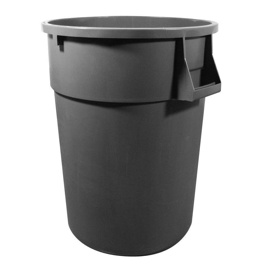 continental 5500gy 55 gallon gray huskee trash can. Black Bedroom Furniture Sets. Home Design Ideas