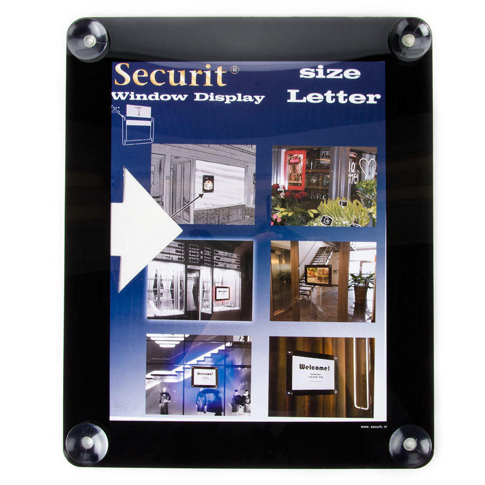 "American Metalcraft Securit PFWLSBL 11"" x 13"" Black Window Display"