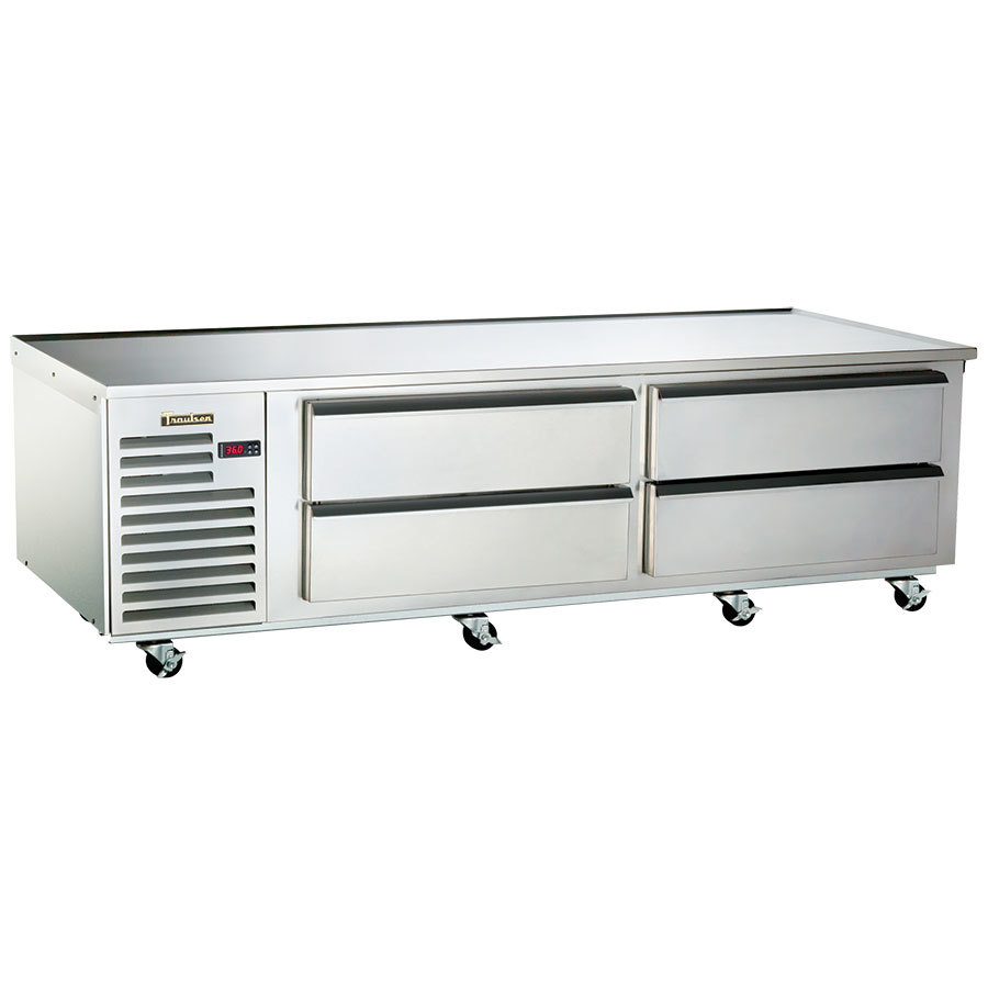 "Traulsen TE084HT 4 Drawer 84"" Refrigerated Chef Base - Specification Line"