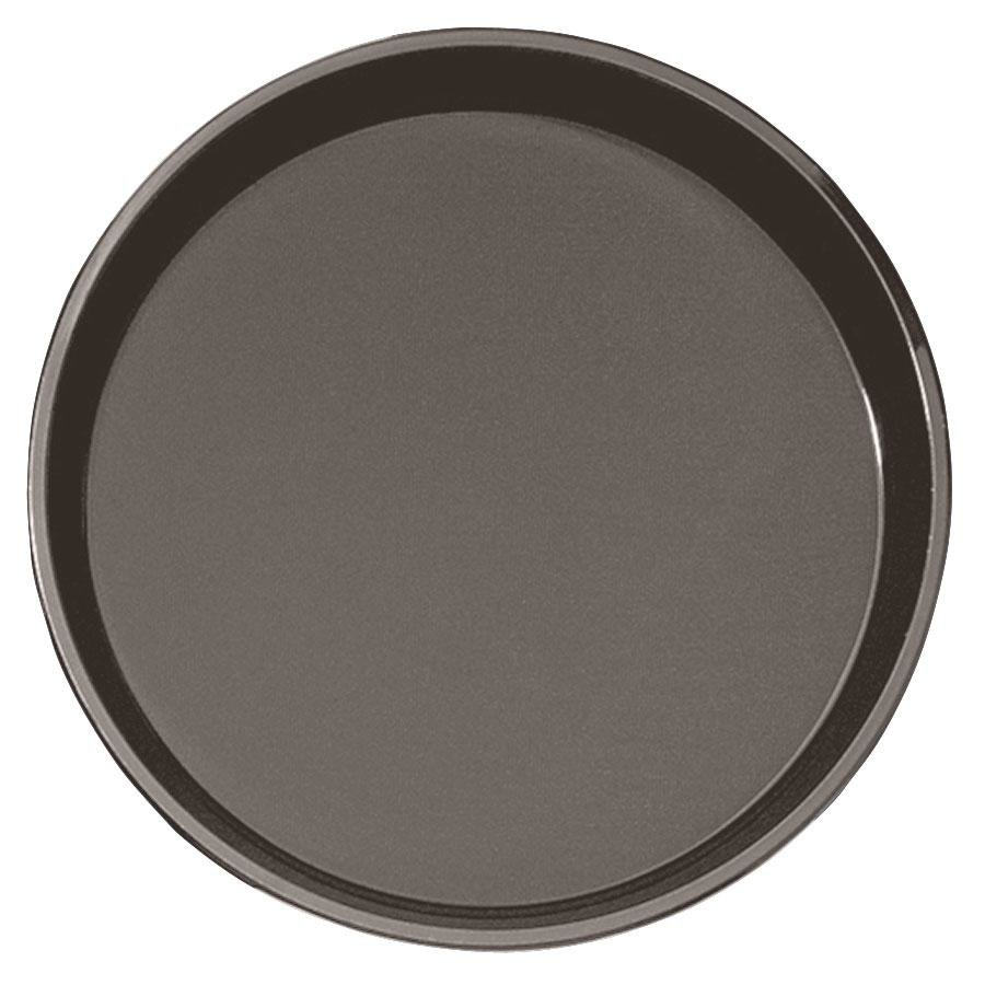 "Cambro PT1600167 Brown 16"" Round Polytread Serving Tray"