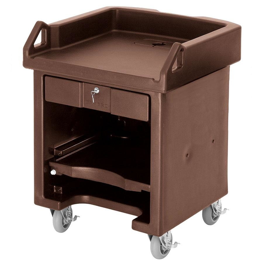 Cambro VCSHD146 Bronze Versa Cart with Heavy Duty Casters