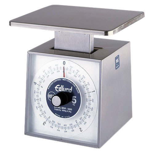 "Edlund MSR-5000 OP 5000 g Stainless Steel Metric Portion Scale with 7"" x 8 3/4"" Platform"