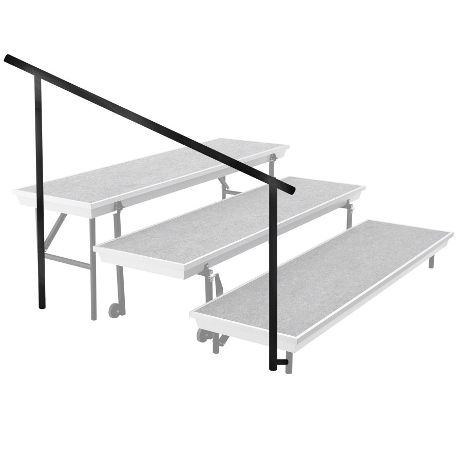 National Public Seating SGRTP3 Side Guardrail for 3-Level Trans-Port Risers