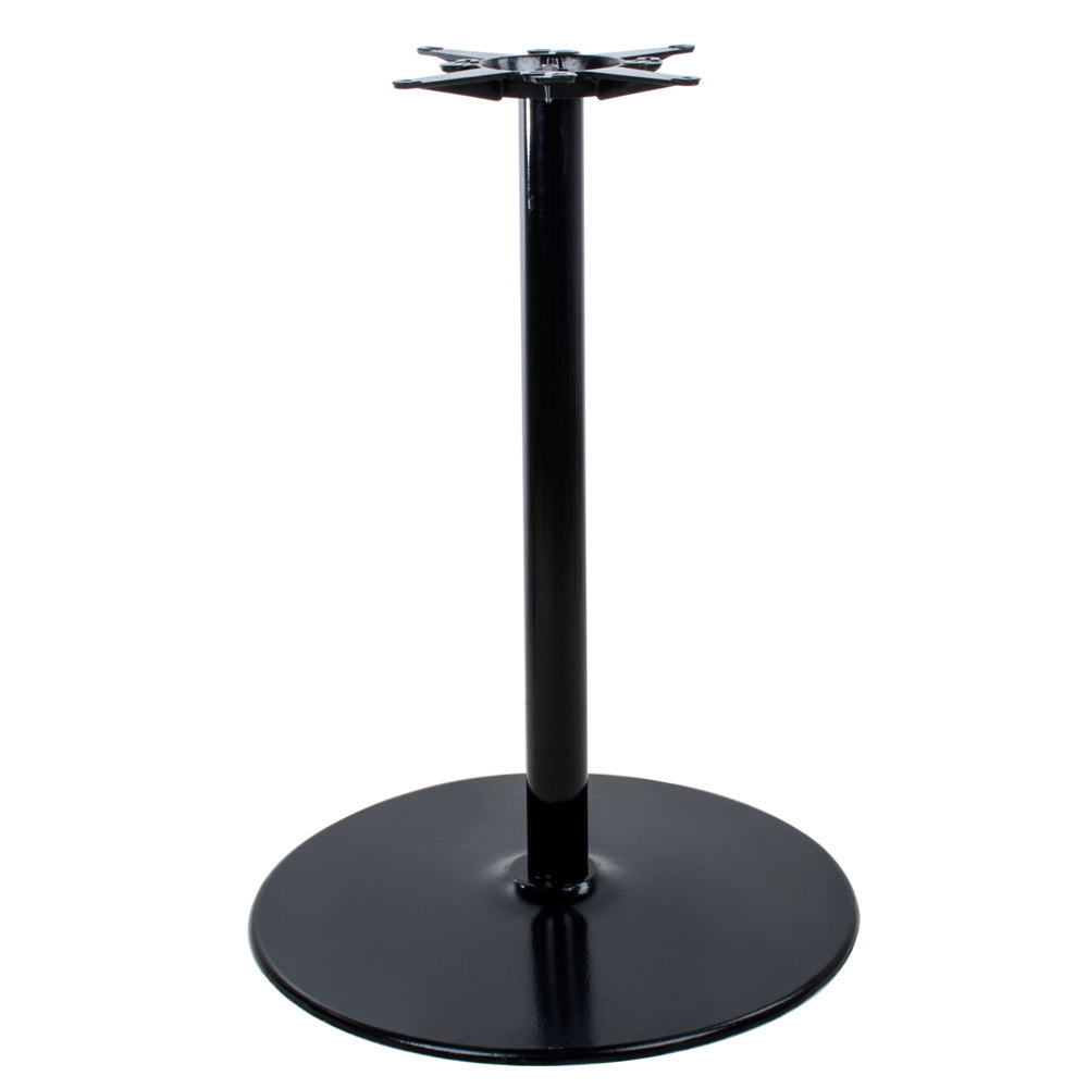 Lancaster table seating 17 round black metal table base Metal table base