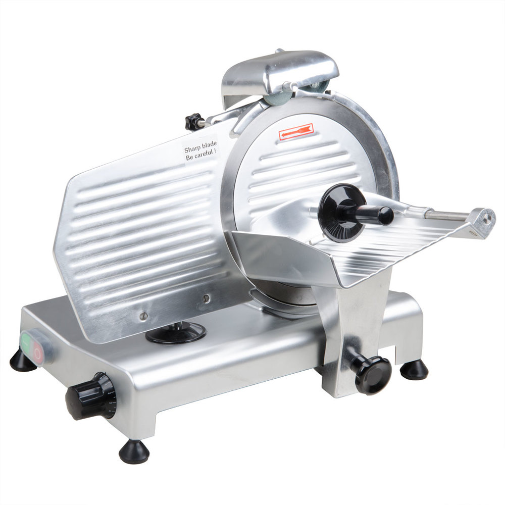 Avantco SL310 10 inch Manual Gravity Feed Meat Slicer - 1/4 HP