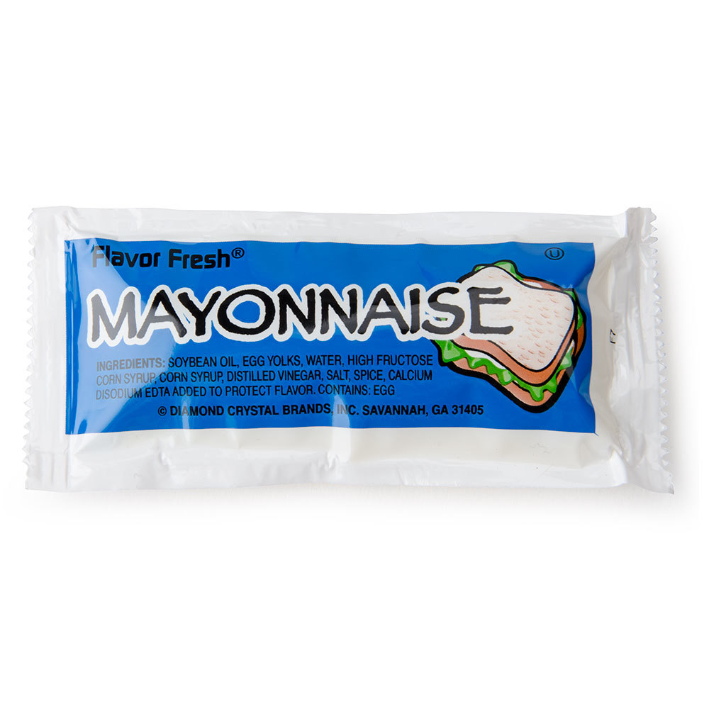 Mayonnaise Single Serve Packets, 200/Box | Staples®