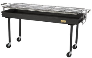 Crown Verity BM-60 72 inch Portable Outdoor Charbroiler Charcoal Grill
