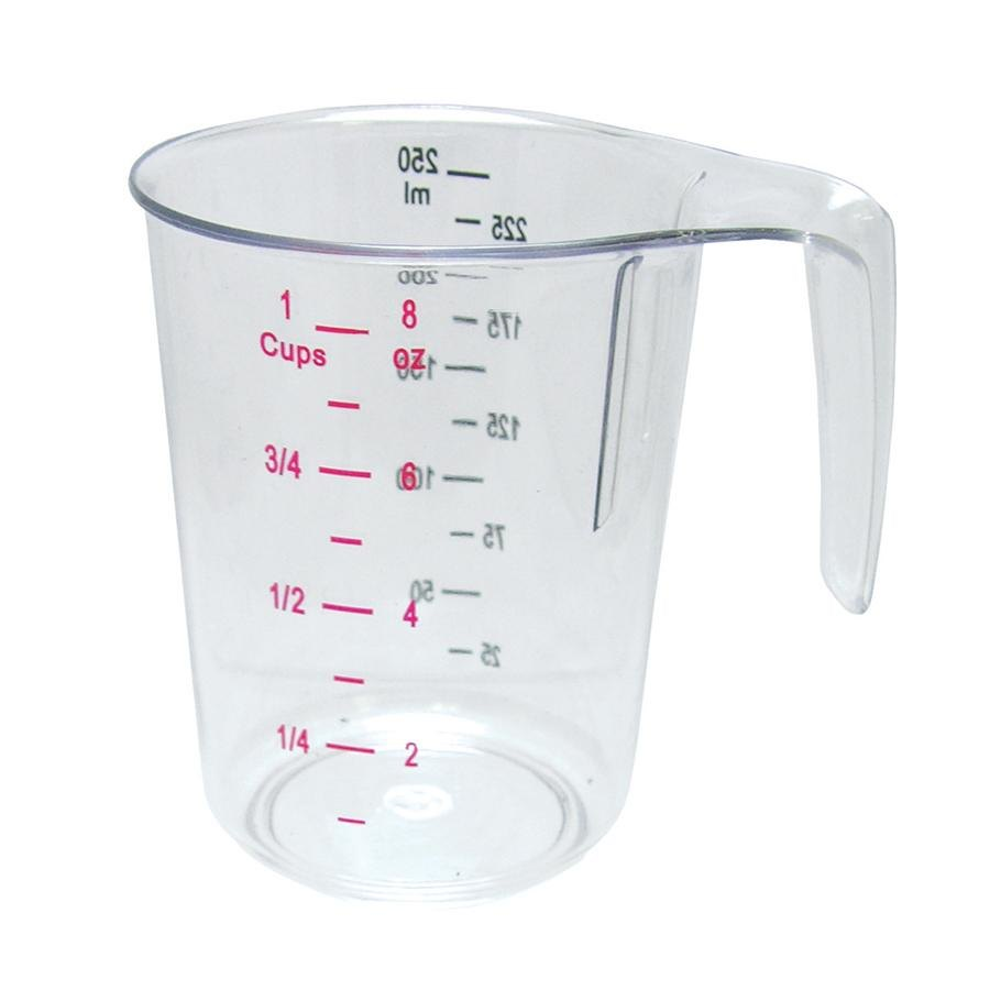 1 Cup Clear Plastic Measuring Cup