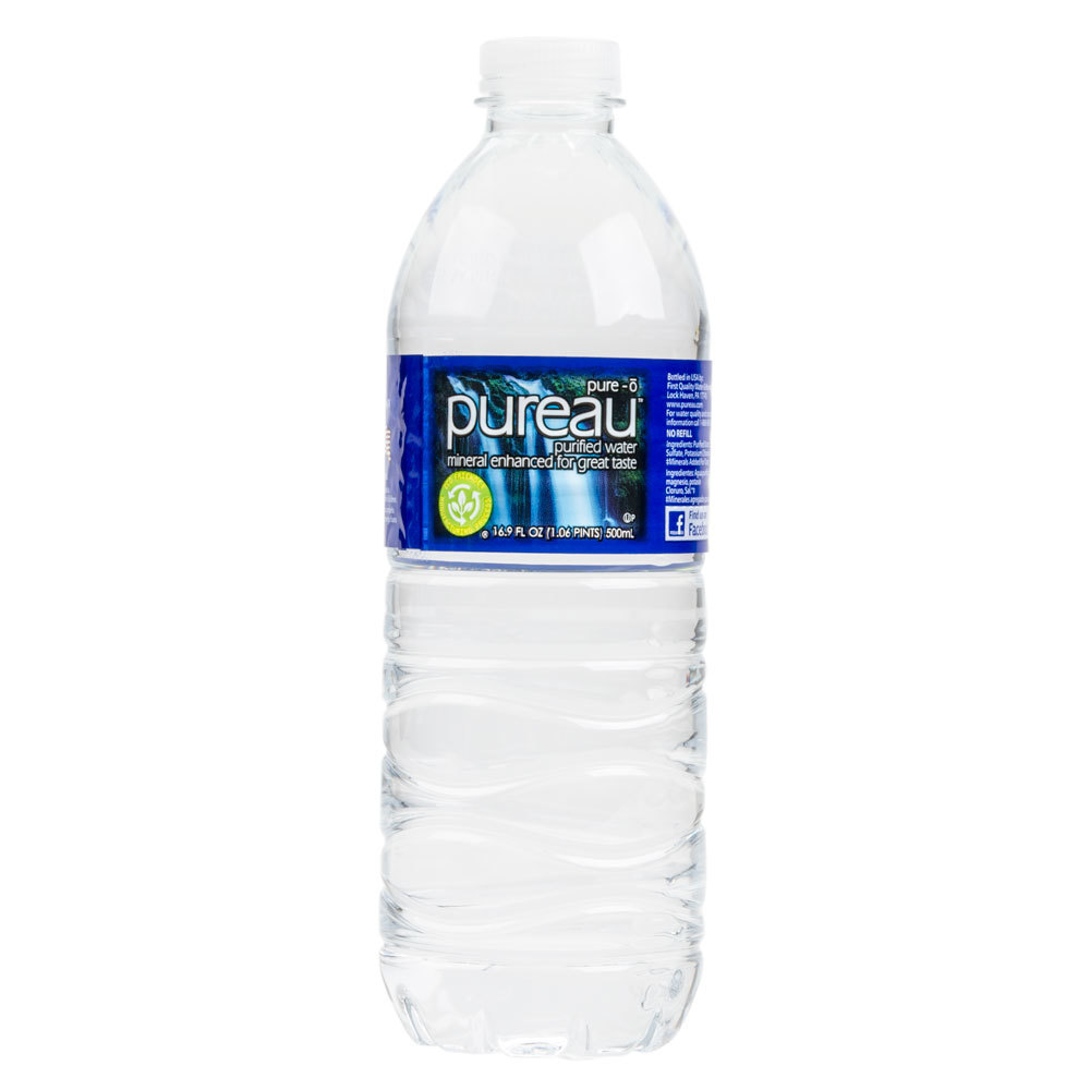 16 9 oz purified bottled water 24 case for Floor 9 water bottle