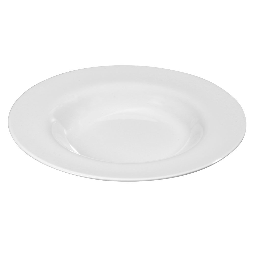 "Carlisle 3303002 Sierrus White Chef Salad / Pasta Bowl 12"" 12 / Case"