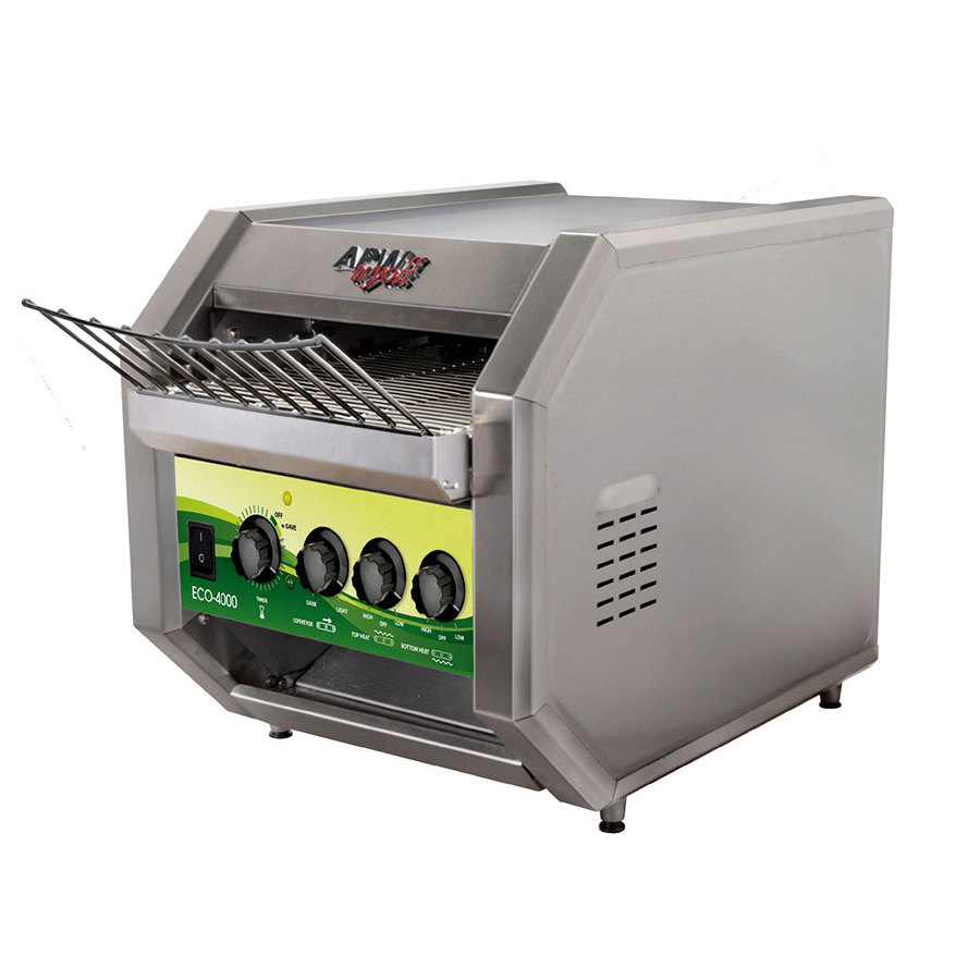 "APW Wyott ECO-4000 QST 350L 10"" Wide Conveyor Toaster with 1 1/2"" Opening and Analog Controls 120V"