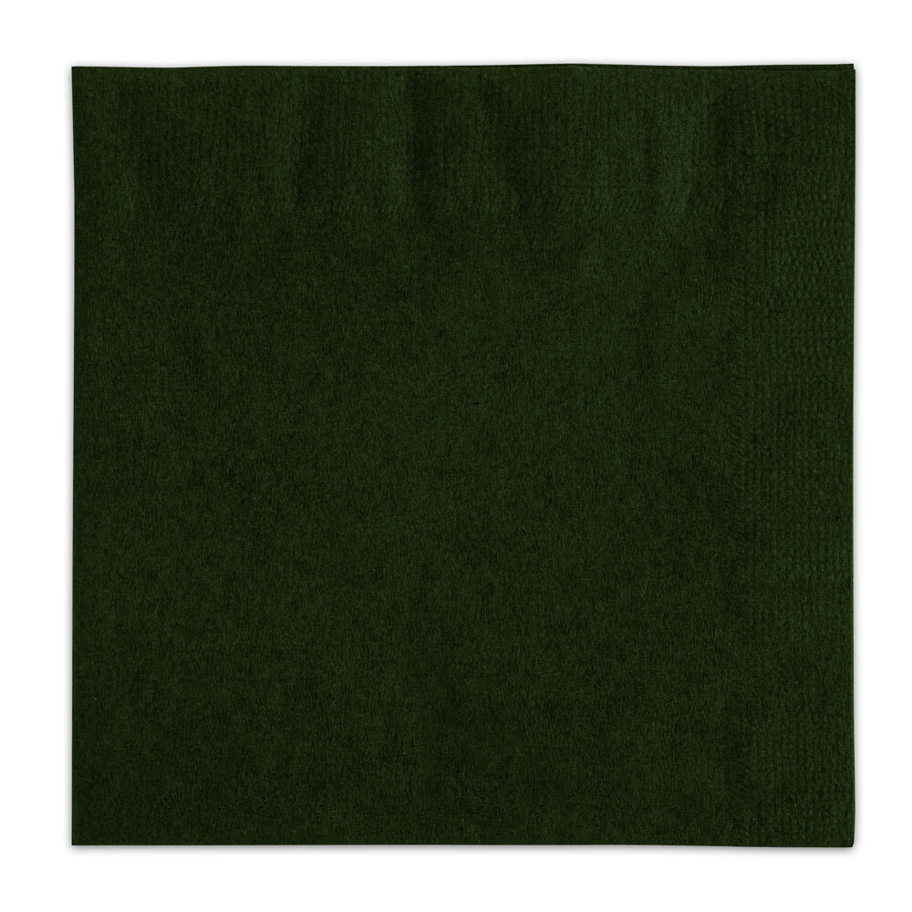 Choice Hunter Green Beverage / Cocktail Napkin - 250 / Pack