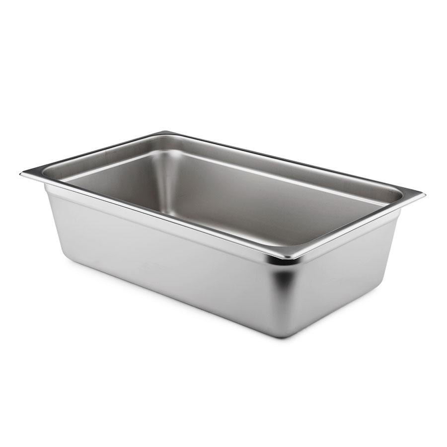 6 inch Deep, Full Size Standard Weight Stainless Steel Steam Table / Hotel Pan Anti-Jam