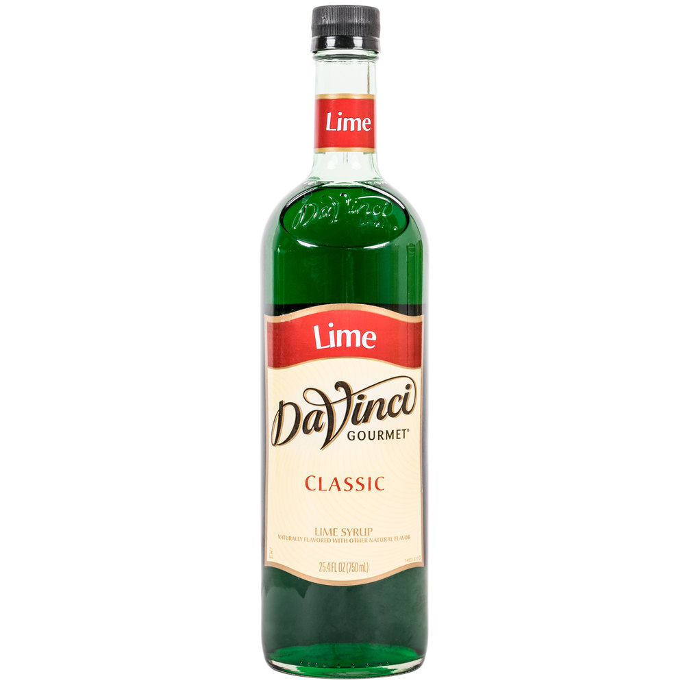 DaVinci Gourmet 750 mL Lime Classic Coffee Flavoring / Fruit Syrup