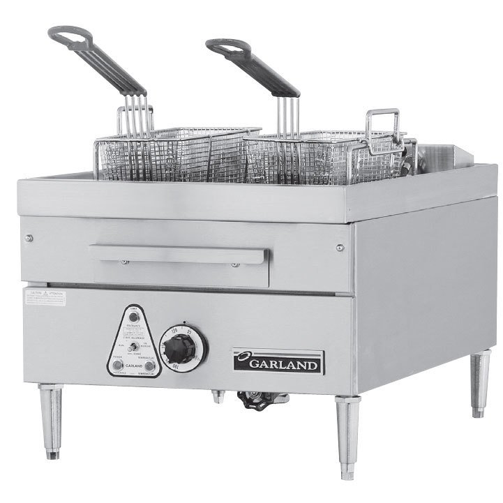 Garland / US Range 240V Single Phase Garland E24-31SF 30 lb. Commercial Countertop Electric Super Deep Fryer - 18 kW at Sears.com