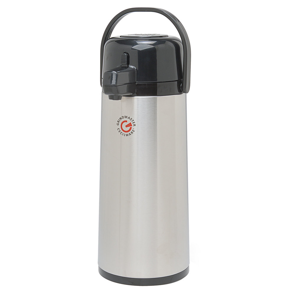 Grindmaster 70768-C 2.2 Liter Glass Lined Airpot with Push Button - 6/Case