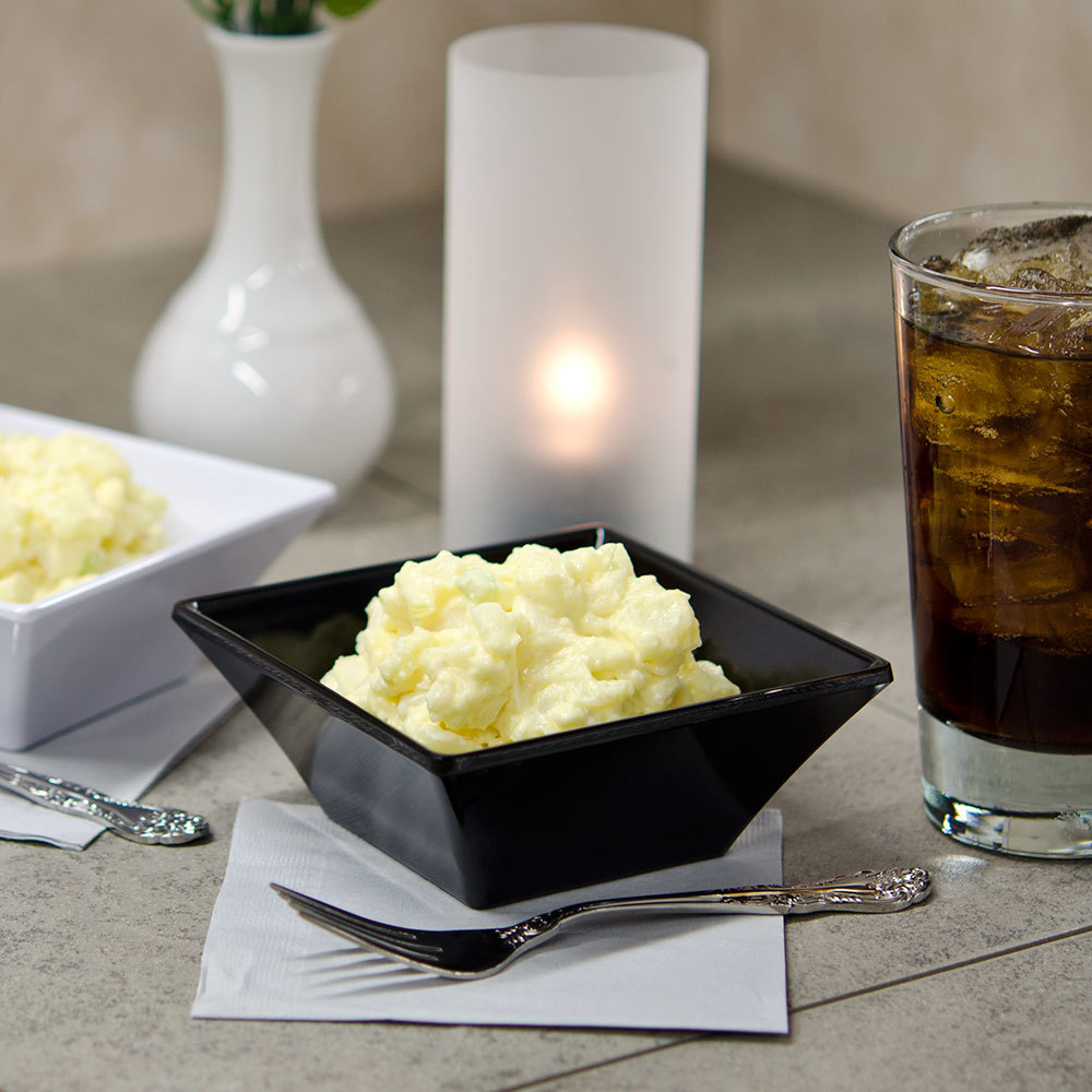GET ML-238-BK 14 oz. Black Siciliano Square Bowl - 12 / Case