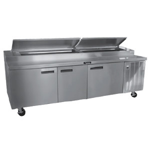 Delfield 18691PTBM 91 inch Refrigerated Pizza Prep Table