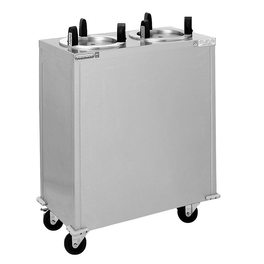 "Delfield CAB2-913 Mobile Enclosed Two Stack Dish Dispenser for 8 1/8"" to 9 1/8"" Dishes"