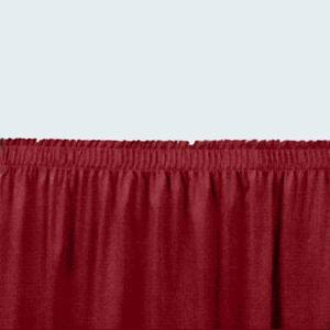 "National Public Seating SS32-48 Burgundy Shirred Stage Skirt for 32"" Stage - 31"" x 48"""