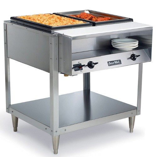 Vollrath 38102 ServeWell Electric 2 Well Hot Food Table 120V - Sealed Well