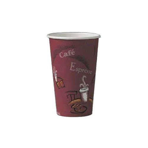 Solo 316SI 16 oz. Bistro Paper Hot Cup 1000 / Case