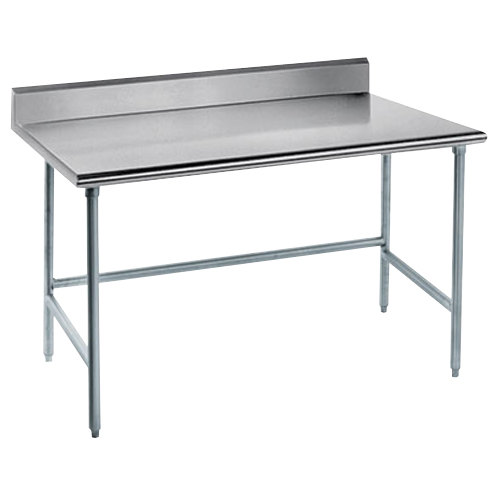 Advance Tabco TKLG X Gauge Open Base Stainless Steel - Stainless steel open base work table