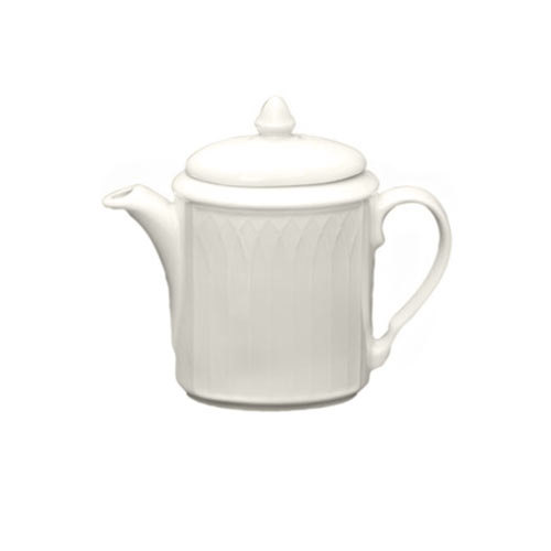 Homer Laughlin 7000-0324 Undecorated Gothic Replacement Lid for 23 oz. Beverage Server - Off White 12