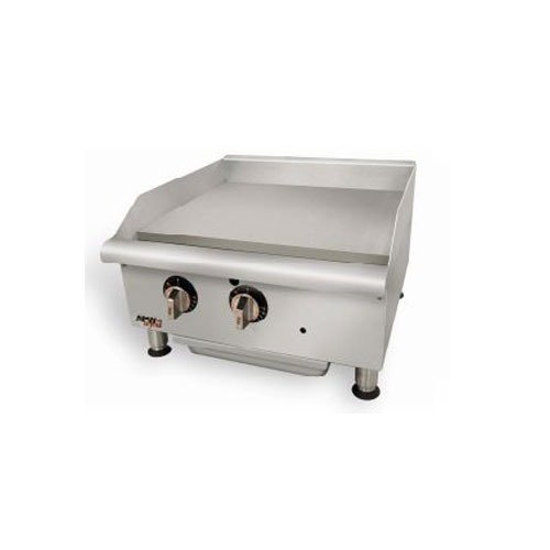 APW Wyott GGM-36i Champion 36 inch Countertop Griddle with Manual Controls and 2 Safety Pilots - 75,000 BTU