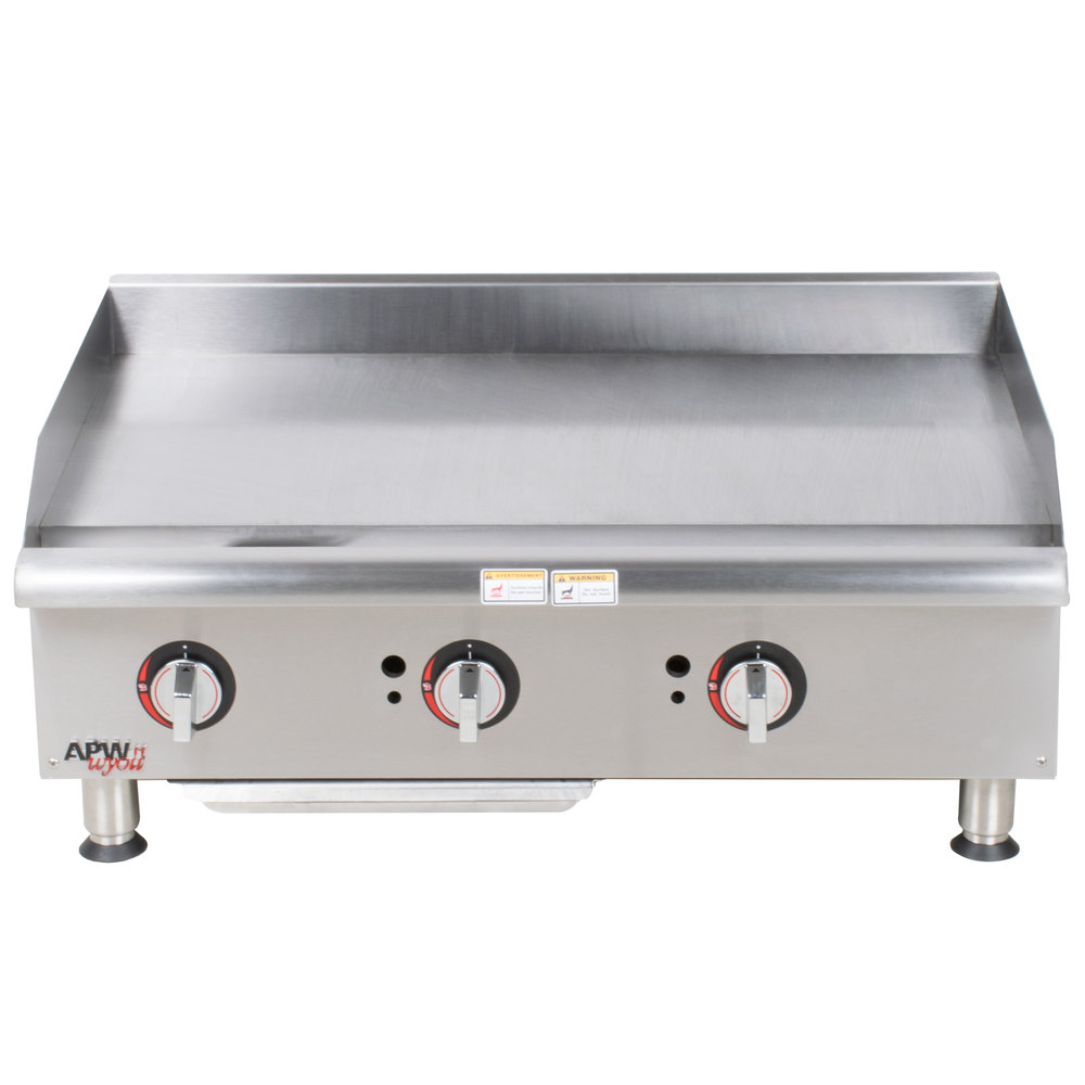 "APW Wyott GGM-36i Champion 36"" Countertop Griddle with Manual Controls and 2 Safety Pilots - 75,000 BTU"