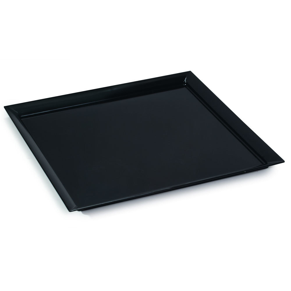 "GET ML-244-BK 24"" Black Siciliano Square Display Plate"