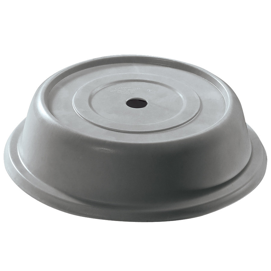 "Cambro 105VS191 Versa 10 5/16"" Granite Gray Camcover Round Plate Cover - 12/Case"