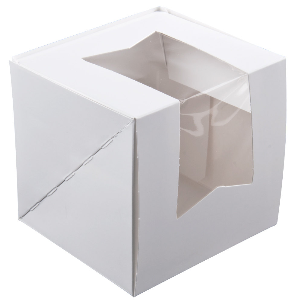 White Windowed Cupcake Boxes Window Cupcake Box With Insert