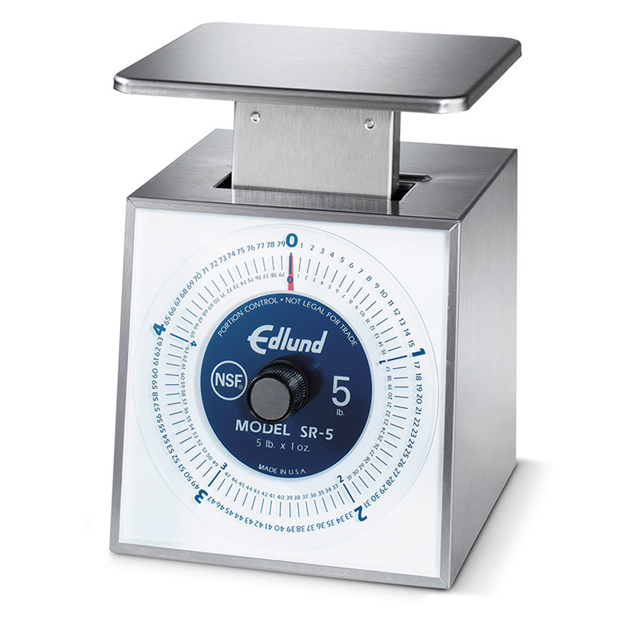 Edlund SR-5 OP 5 lb. Stainless Steel Mechanical Portion Scale with Stainless Steel Platform