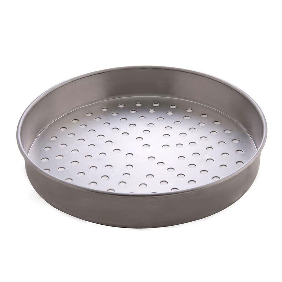 "American Metalcraft T4008SP 8"" Super Perforated Straight Sided Pizza Pan - Tin-Plated Steel at Sears.com"