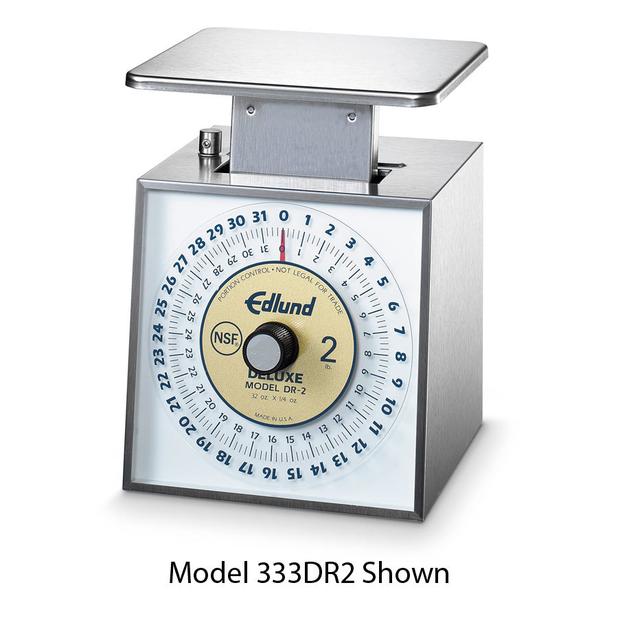 Edlund DR-1 Deluxe 16 oz. Portion Control Scale with 6 inch x 6 3/4 inch Platform