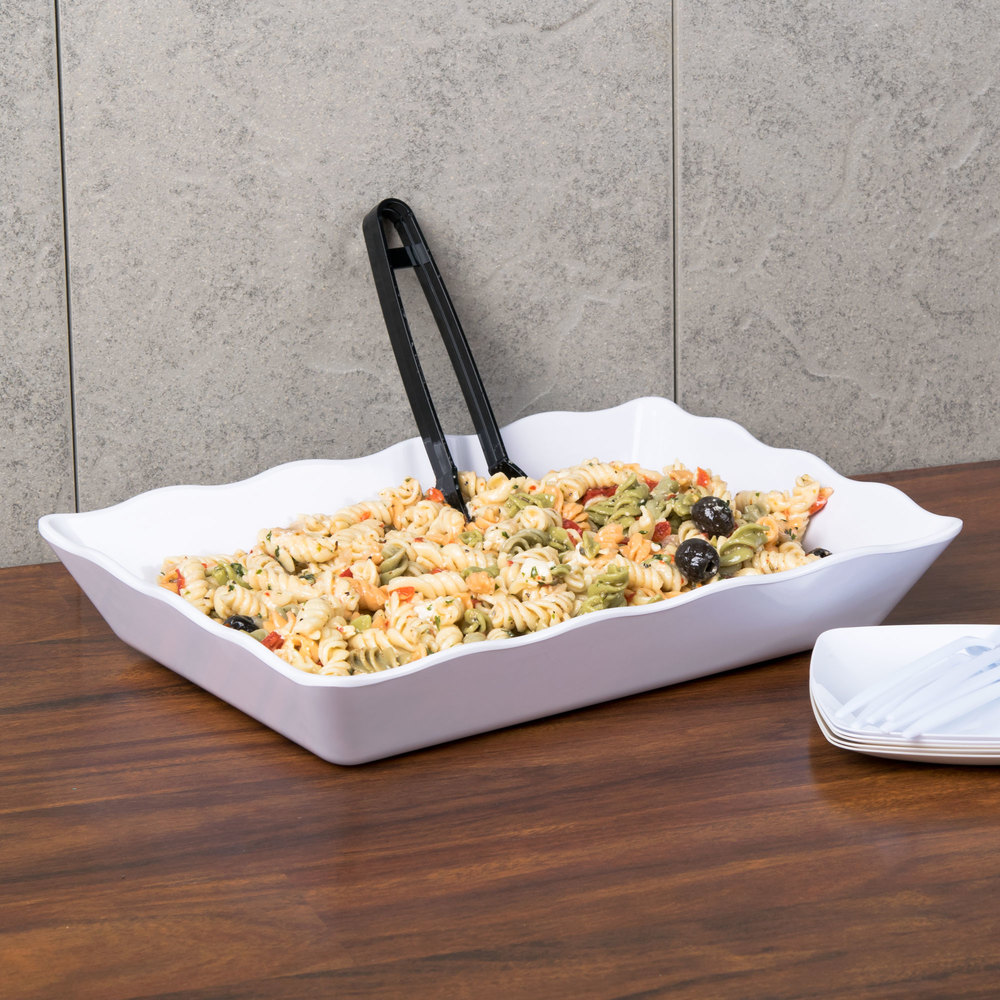 GET ML-88-W Milano White Tray - 6/Case