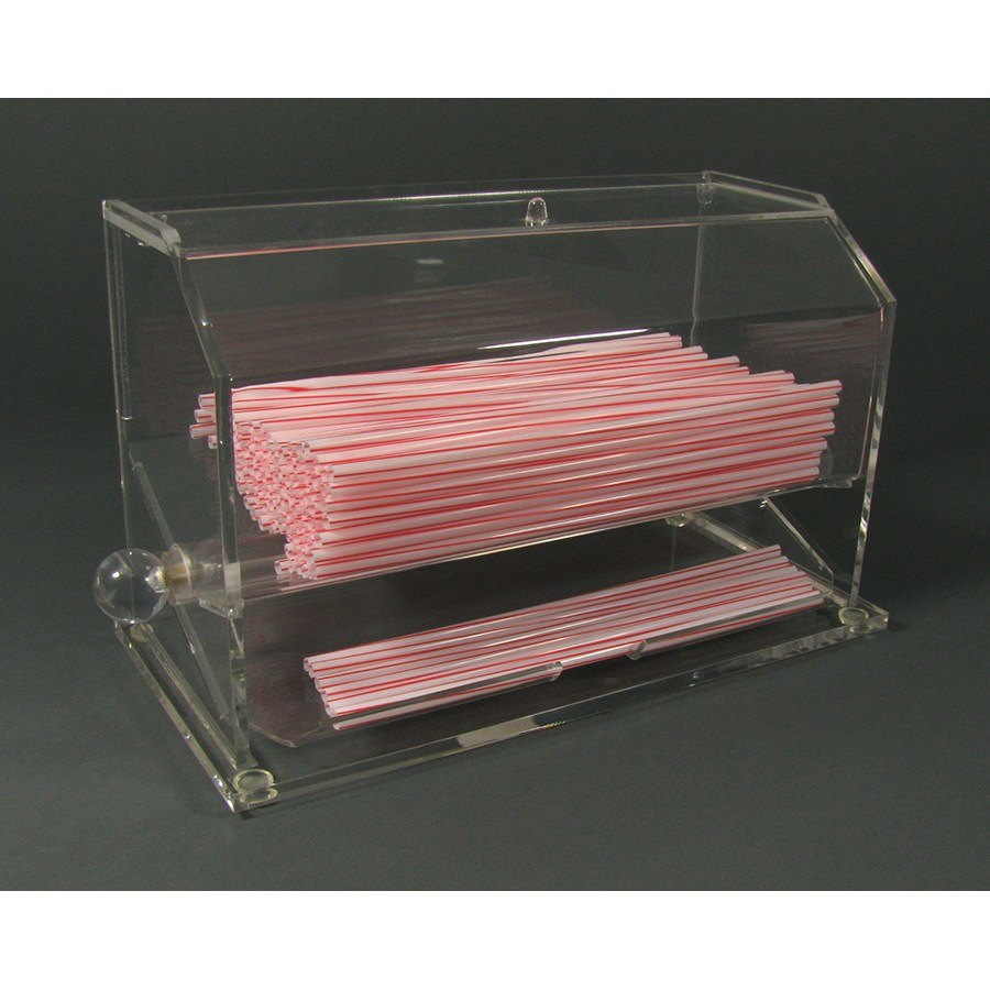Acrylic Straw Dispenser