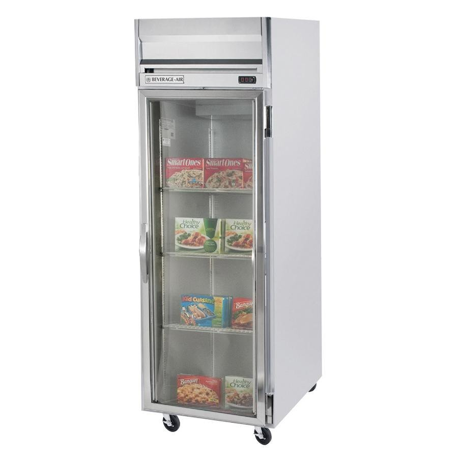 Beverage Air HBF23-1-G One Glass Door Reach In Freezer - 23 Cu. Ft.