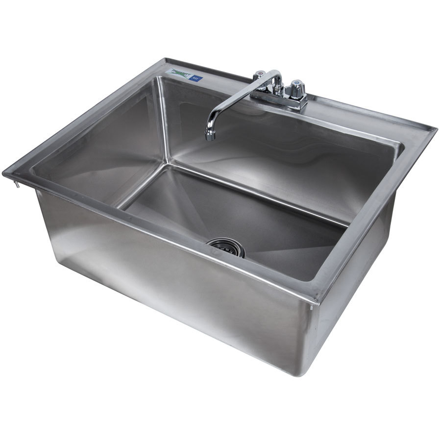 Drop In Stainless Steel Utility Sink : Regency Tables & Sinks Regency 16 Gauge Drop In Stainless Steel Sink ...