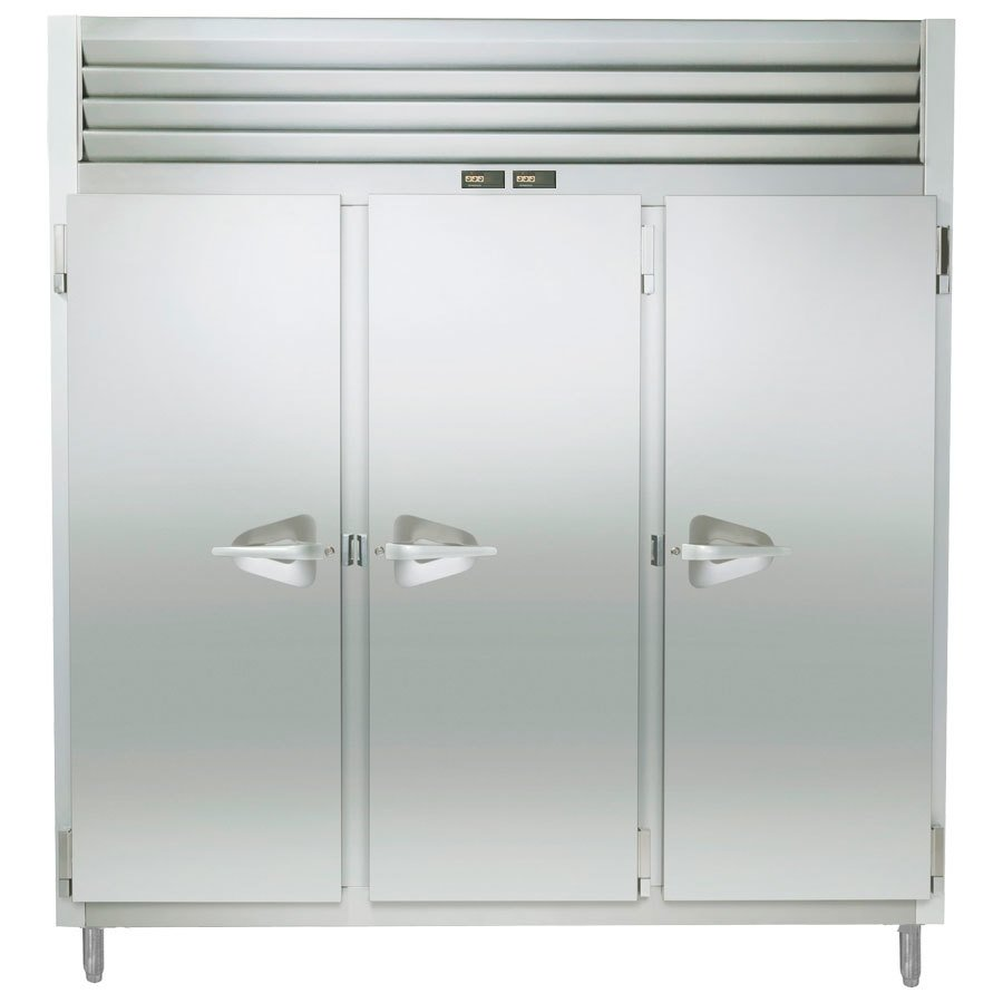 Traulsen RDT332WUT-FHS Stainless Steel 69.3 Cu. Ft. Three Section Reach In Refrigerator / Freezer - Specification Line