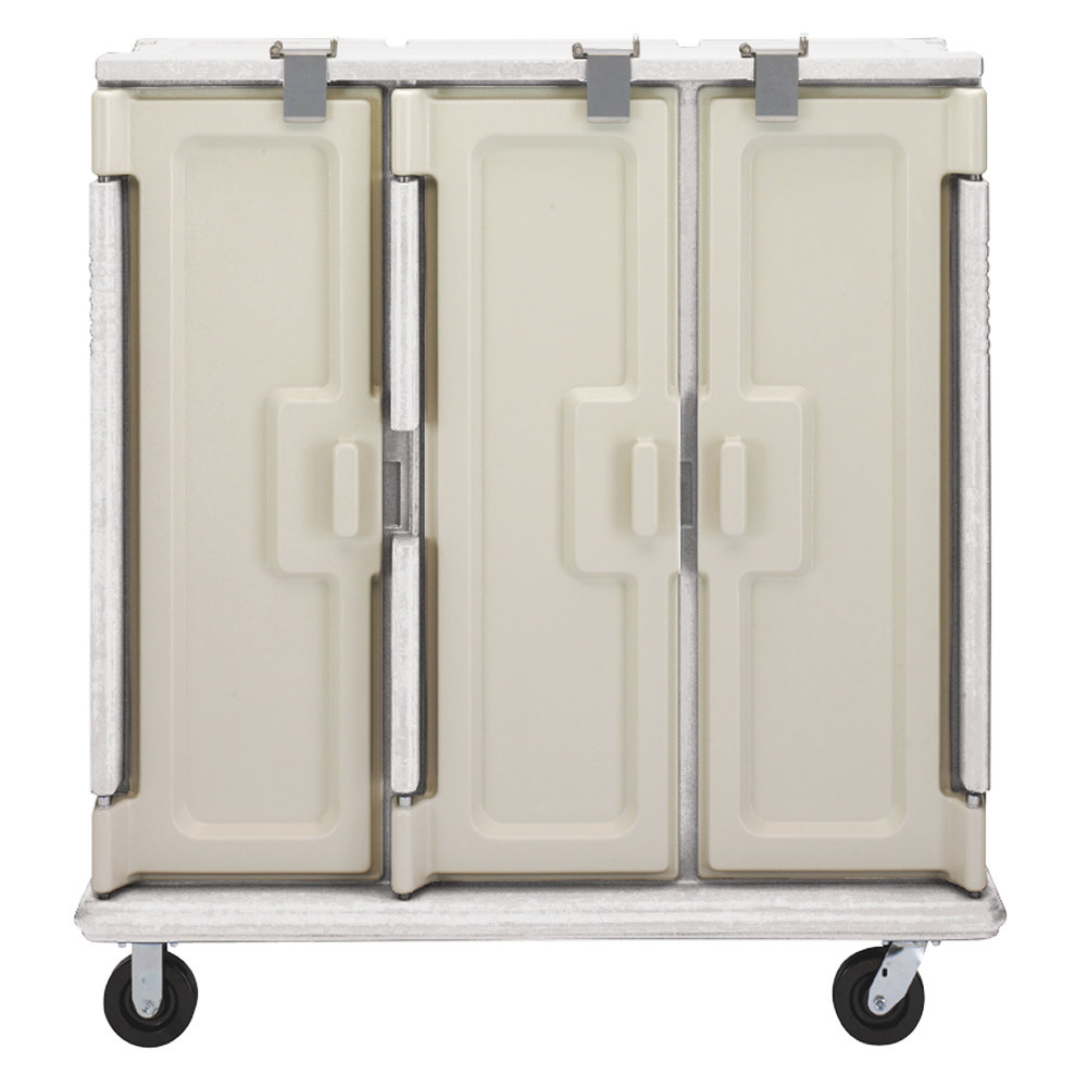 Cambro MDC1520T30180 Light Gray 3 Compartment Meal Delivery Cart 30 Tray