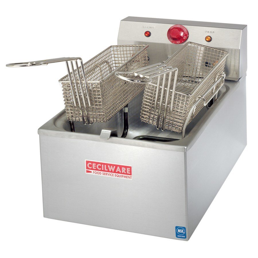 Grindmaster Cecilware 240 Volts Cecilware EL-310 Stainless Steel Commercial Countertop Electric Deep Fryer with 45 lb. Fry Tank - 5500W at Sears.com