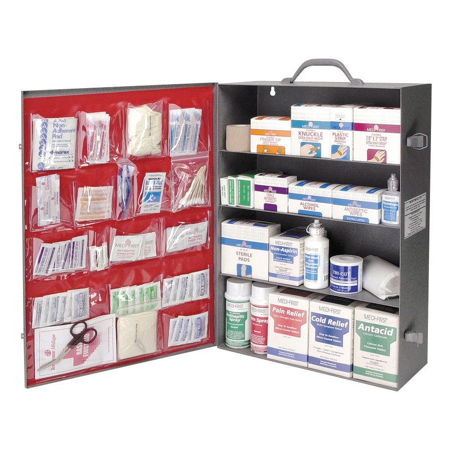 First Aid Kit Cabinet 4 Shelf Medique - 909 pcs. (MFR Item ...