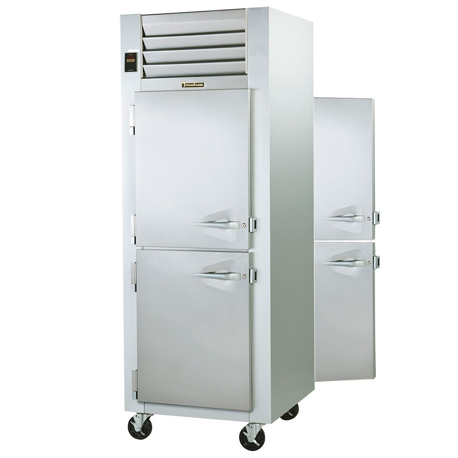Hot Holding Cabinet Traulsen G14304p 1 Section Pass Through Half Door Hot Food Holding