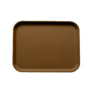 "Cambro 1826CT138 Camtread 18"" x 26"" Tavern Tan Non-Skid Serving Tray - 6/Case"